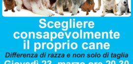 23 marzo conferenza Scegliere consapevolmente il proprio cane